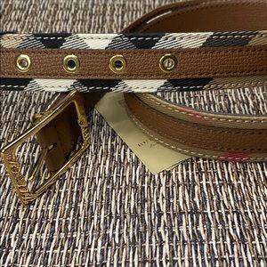 Burberry Housecheck Reversible Belt